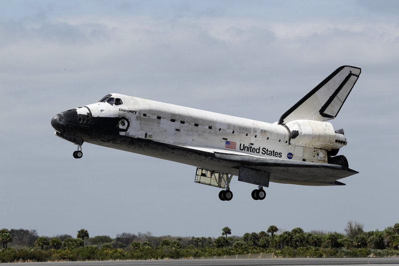 De allerlaatste landing van de space shuttle Discovery