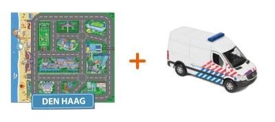 Combideal: het speelkleed van Den Haag met een Politiebus