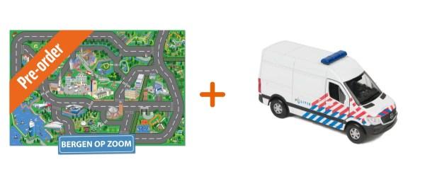 Combideal - speelkleed bergen op zoom en speelgoedauto mercedes politiebus
