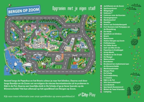 Plattegrond speelmat Bergen op Zoom