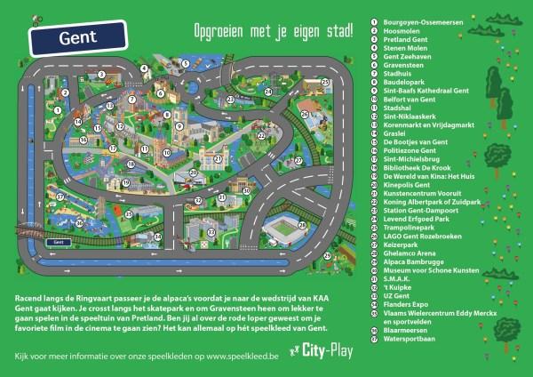 Speelkleed Gent plattegrond