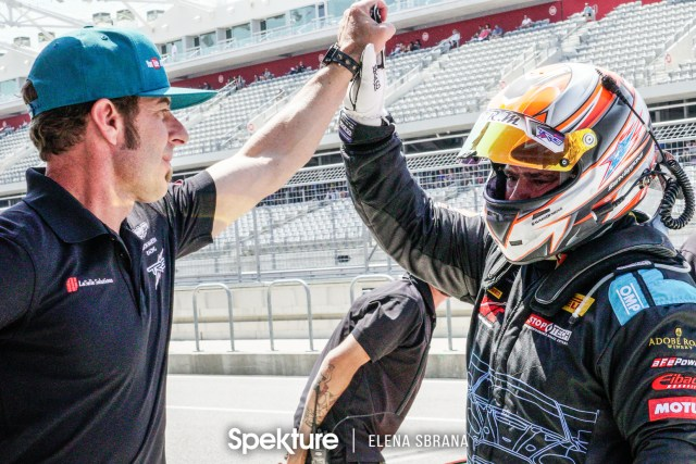 Earchphoto - Derek and Sean after a successful qualifying session.
