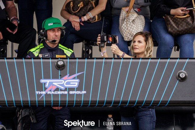 Earchphoto - Derek and Brooke in pit lane during a race.