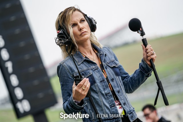 Earchphoto - Brooke De Boer of FastlifeTV in pit lane.