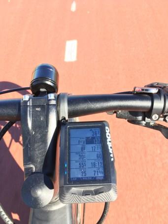 fietsen met een fietscomputer