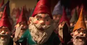 Lawn Gnomes attack from Goosebumps. (Photo credit: Goosebumps movie - 2015)