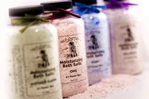 Bath salts are perfect for relaxation. (Photo credit: windrifthill.com)