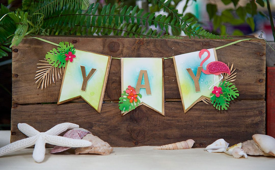 All Strung Out Summer DIY Party Banner
