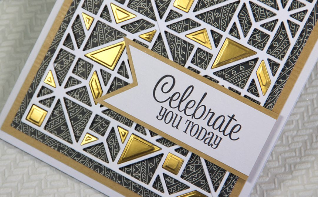 Father's Day Kaleidoscope Celebrate You Today Card