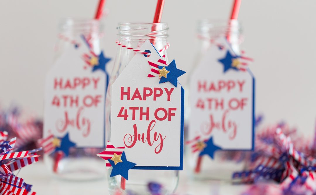 Dressing Drinks 4th of July Party Tags