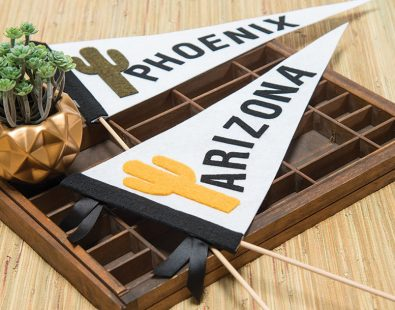 No-Sew Phoenix Pennant Tutorial