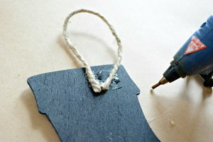 Darling Chalkboard Holiday Ornaments - Christmas in July