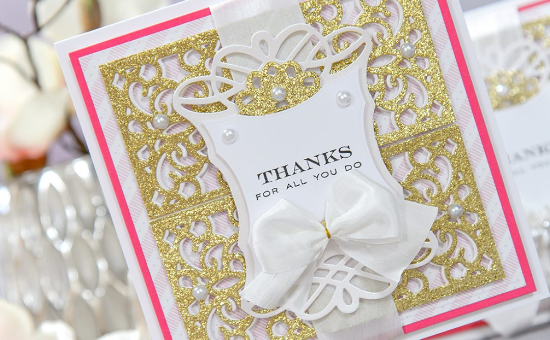 Altering Die Cuts with Scissors. Thanks For All You Do Card & Video Tutorial
