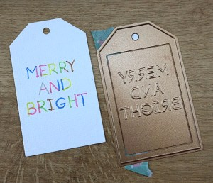 Quick and Easy Twinkle Lights Holiday Card Tutorial by Christina Griffiths Step 3