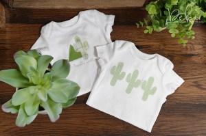 Creating a Cactus Baby Onesie using Cactus Die by Debi Adams for Spellbinders