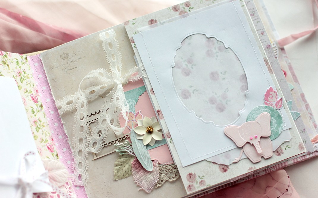 Embellish Your Mini Album with Spellbinders Dies. Project by Elena Olinevich