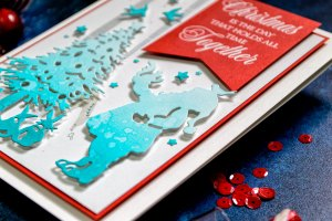 Quick Technique   Christmas Is The Day Card by Yana Smakula for Spellbinders with Deck The Halls Die