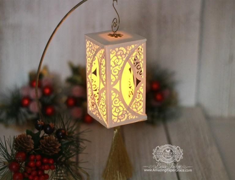 Die Cut Ornament Series: Swirl Bliss by Becca Feeken using Spellbinders S4-505 Swirl Bliss Pocket dies #spellbinders #diecutting #christmasornament #papercrafting