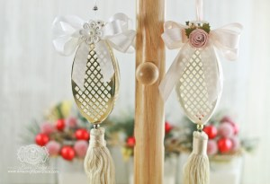Die Cut Ornament Series: Tiered Multiloops by Becca Feeken for Spellbinders using S6-048 Tiered Multiloop Bows dies #spellbinders #diecutting #christmasornament