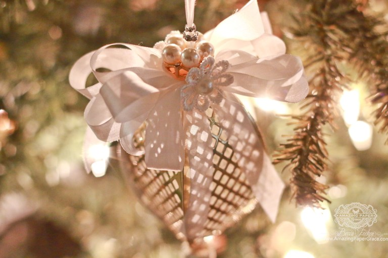 Die Cut Ornament Series: Tiered Multiloops by Becca Feeken for Spellbinders using S6-048 Tiered Multiloop Bows dies #spellbinders #diecutting #christmasornament