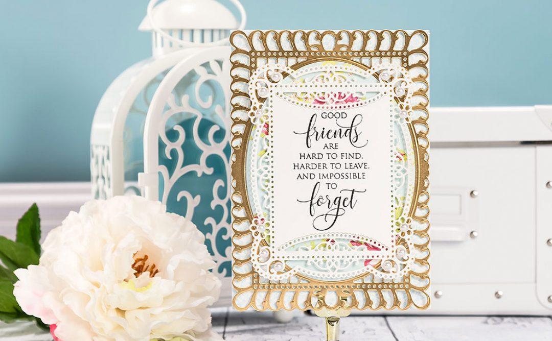Cardmaking Inspiration | Good Friends Card