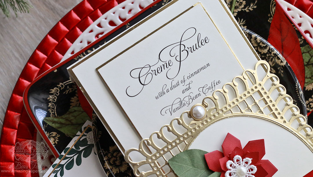 Special Touches, in Under Ten Minutes: Memories, Forever! by Becca Feeken for Spellbinders using S6-129 Bella Rose Lattice Layering Frame and S3-250 Angled Flower - Fold and Go dies #spellbinders #diecutting