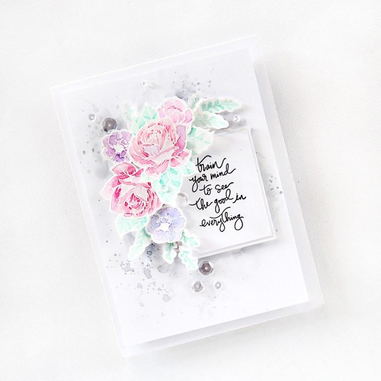 Moon Flower Cool Vibes Cards by Erum Tasneem for Spellbinders using SDS-098 Moon Flower Stamp & Die set by Spellbinders