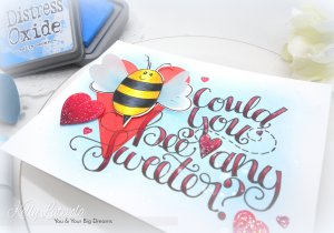 Spellbinders Video Friday   Dimensional Valentine with Kelly Latevola. Using SDS-104 Bee Any Sweeter, S4-814 Prim Hearts, S3-313 Love Letter. #spellbinders #stamping #diecutting #neverstopmaking #lovecard