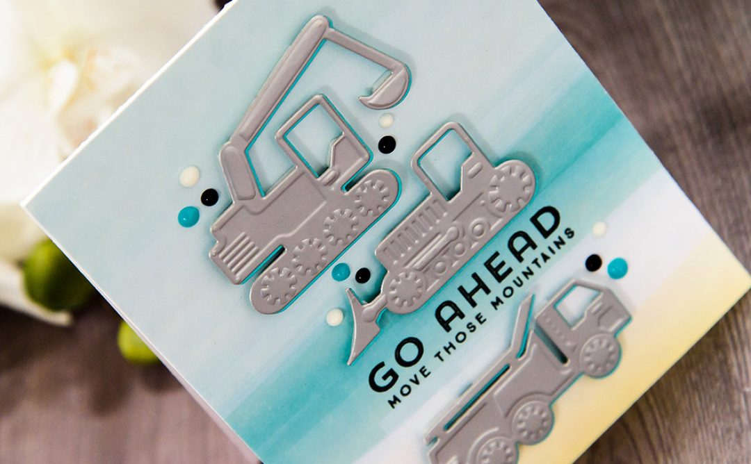 Cardmaking Inspiration | Go Ahead Move Those Mountains Card