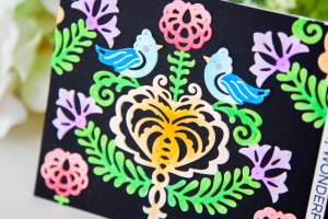 Folk Art Collection Inspiration   Rosemal Heart Card with Keeway for Spellbinders using S4-887 Rosemal Heart dies #spellbinders #neverstopmaking #diecutting #handmadecard