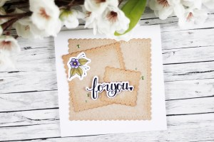 Classics March Inspiration | For You Card with Kaja for Spellbinders using S4-909 Fancy Edged Squares, SDS-071 Handcrafted, SDS-107 Sentiment 2 #spellbinders #neverstopmaking #diecutting #handmadecard