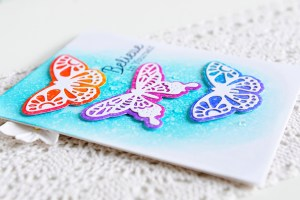 Good Vibes Only Collection by Stephanie Low - Inspiration   Butterfly & Floral Cards with Kay for Spellbinders using S3-237 Wandering Butterflies dies. #spellbinders #neverstopmaking #diecutting #handmadecard