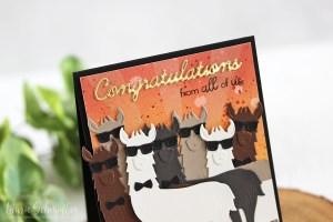 Die D-Lites Inspiration   Hip Llama Card with Laurie for Spellbinders using S3-319 Hip Llama, S4-563 Phrase Set One dies #cardmaking #diecutting #handmadecard #spellbinders