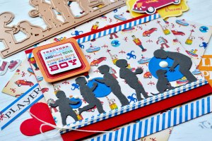 Little Loves Collection by Sharyn Sowell Inspiration | Silhouette Cards by Susie Lessard for Spellbinders using S4-894 Little Boys at Play, S4-896 Every Day's a Happy Day #spellbinders #diecutting #handmadecard #neverstopmaking