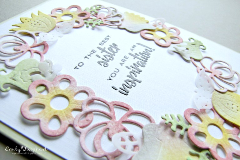 Folk Art collection by Lene Lok - Inspiration | Nordic Wreath by Emily Leiphart for Spellbinders using S4-882 Nordic Floral,  S4-885 Nordic Blooms dies #spellbinders #diecutting #handmadecard #neverstopmaking