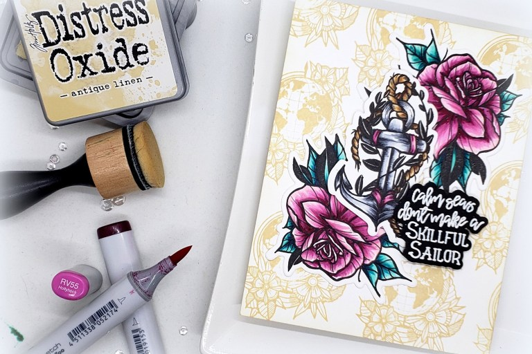 Video Friday | Inked Messages Collection by Stephanie Low - Handmade Card by Kelly Latevola featuring SDS-136 Rough Waters, SDS-139 A Rose Any Other Name, SDS-137 Wanderlust #spellbinders #stamping #cardmaking #neverstopmaking