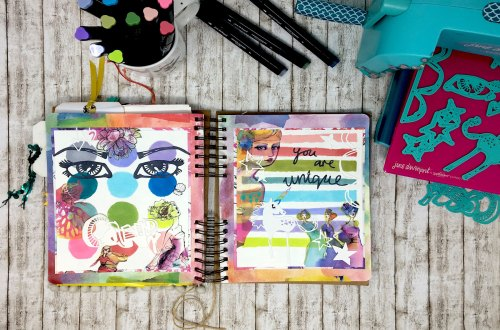 Spellbinders Jane Davenport Artomology | Journaling with Artomology Collection with Angela Tombari