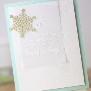 Spellbinders Die D-Lites Holiday Inspiration   Jumping into Christmas Cards with Laurie Willison featuring S3-362 Snowflake, S5-132 A-2 Matting Basics dies #spellbinders #neverstopmaking #diecutting
