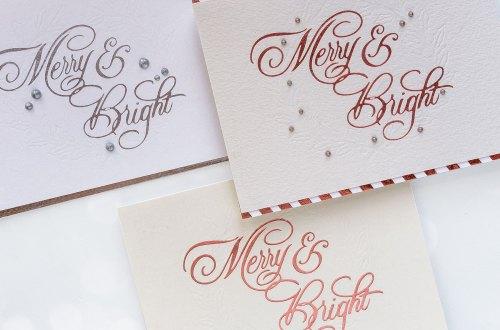 Spellbinders Glimmer Hot Foil System | Letterpress Techniques for Holiday Cards #glimmerhotfoilsystem #spellbindersglimmer #letterpress #neverstopmaking #spellbinders