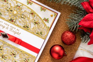 Cardmaking Inspiration   Elegant Christmas Card as seen in Die Cutting Essentials Magazine Issue #45 #spellbinders #cardmaking