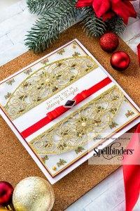 Cardmaking Inspiration | Elegant Christmas Card as seen in Die Cutting Essentials Magazine Issue #45 #spellbinders #cardmaking