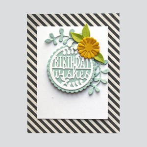 Spellbinders December 2018 Small Die of the Month is Here – Warm Wishes! Birthday Wishes Card. Step 5