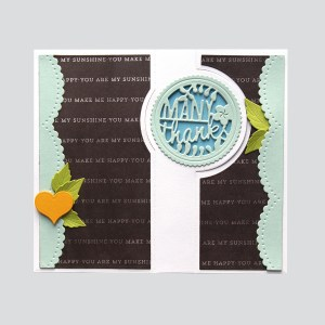 Spellbinders December Large Die of the Month is Here – Many Thanks Gatefold! Many Thanks Handmade Card. Step 1