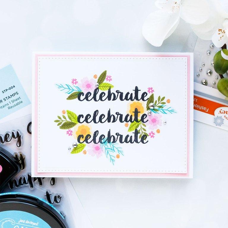 Spellbinders December 2018 Club Gift - Celebrate Handmade Card