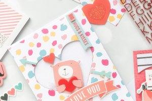 Spellbinders Card Club Kit Extras! January 2019 Edition - Love You card.