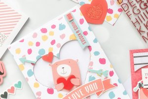 Spellbinders Card Club Kit Extras! January 2019 Edition - Love You card.