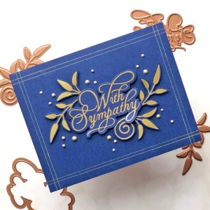 Glorious Glimmer Collection by Becca Feeken - Inspiration | Clean & Simple Cards with Brenda Noelke for Spellbinders