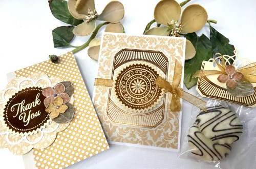 Glorious Glimmer Inspiration | Thank You & Just Because Foiled Projects with Tina Smith for Spellbinders. Video tutorial