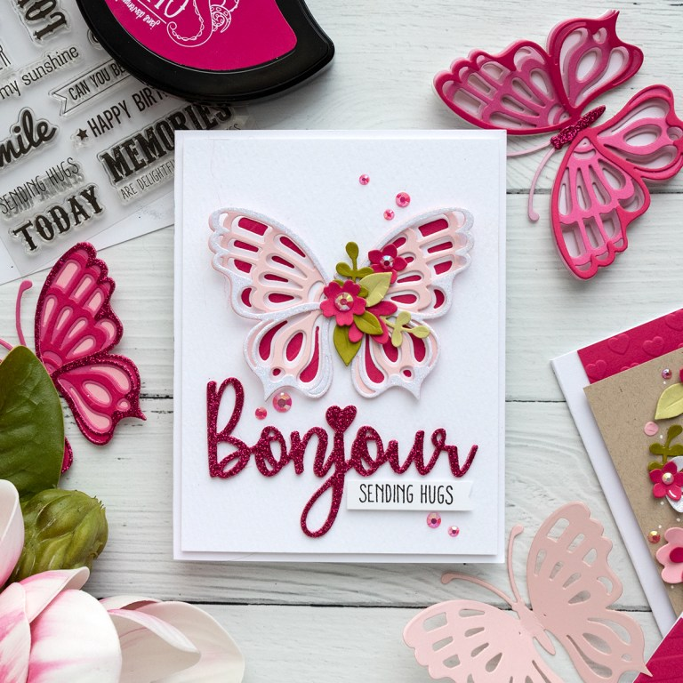 February 2019 Large Die of the Month is Here – Bonjour!