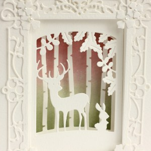 Romantic Forest Shadowbox and Shadowbox as a Photo Frame with Karin Åkesdotter for Spellbinders featuring Shadowbox collection by Becca Feeken